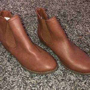 Brown Chelsea Ankle Booties